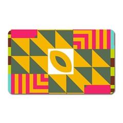 Shapes In A Mirror Magnet (rectangular) by LalyLauraFLM