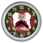 xmas - Wall Clock (Silver)