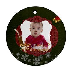 Xmas By Debe Lee   Round Ornament (two Sides)   0blrvqyljh54   Www Artscow Com Back