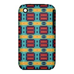 Blue Red And Yellow Shapes Pattern Apple Iphone 3g/3gs Hardshell Case (pc+silicone) by LalyLauraFLM
