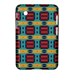 Blue Red And Yellow Shapes Pattern Samsung Galaxy Tab 2 (7 ) P3100 Hardshell Case  by LalyLauraFLM