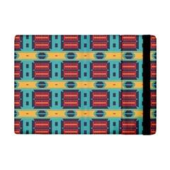 Blue red and yellow shapes pattern	Apple iPad Mini 2 Flip Case by LalyLauraFLM
