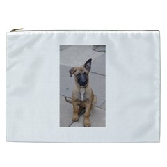 Malinois Puppy Sitting Cosmetic Bag (XXL)  by TailWags