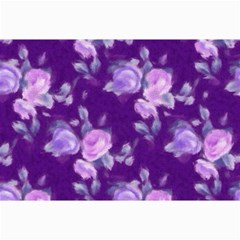 Vintage Roses Purple Collage 12  x 18  by MoreColorsinLife