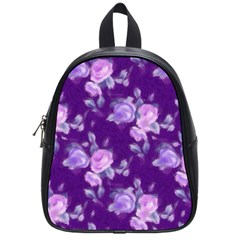 Vintage Roses Purple School Bags (small)  by MoreColorsinLife