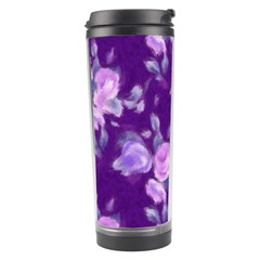 Vintage Roses Purple Travel Tumblers by MoreColorsinLife