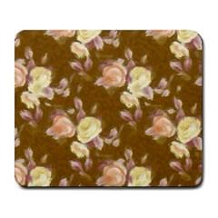 Vintage Roses Golden Large Mousepads by MoreColorsinLife