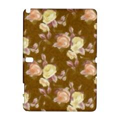 Vintage Roses Golden Samsung Galaxy Note 10.1 (P600) Hardshell Case by MoreColorsinLife