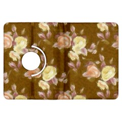 Vintage Roses Golden Kindle Fire Hdx Flip 360 Case by MoreColorsinLife