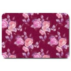 Vintage Roses Large Doormat  by MoreColorsinLife