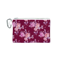 Vintage Roses Canvas Cosmetic Bag (S) by MoreColorsinLife