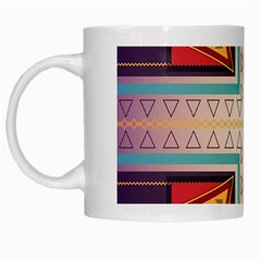 Cross And Other Shapes White Mug by LalyLauraFLM