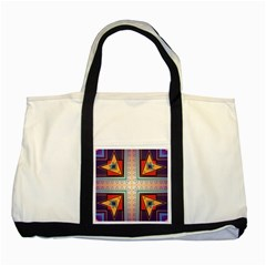 Cross And Other Shapes Two Tone Tote Bag by LalyLauraFLM