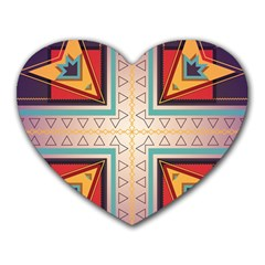 Cross and other shapes Heart Mousepad by LalyLauraFLM