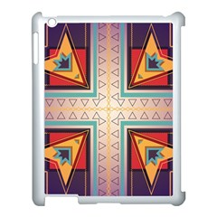 Cross And Other Shapes Apple Ipad 3/4 Case (white) by LalyLauraFLM