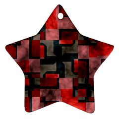 Textured Shapes Star Ornament (two Sides) by LalyLauraFLM