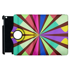Rays In Retro Colors Apple Ipad 3/4 Flip 360 Case by LalyLauraFLM