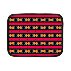 Rhombus And Stripes Pattern Netbook Case (small) by LalyLauraFLM
