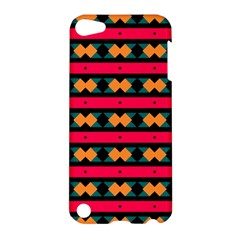 Rhombus And Stripes Pattern Apple Ipod Touch 5 Hardshell Case by LalyLauraFLM
