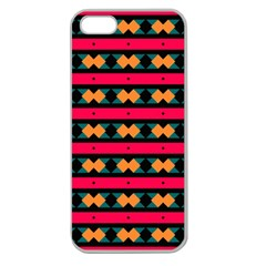 Rhombus And Stripes Pattern Apple Seamless Iphone 5 Case (clear) by LalyLauraFLM