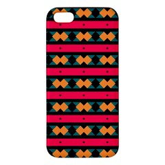 Rhombus And Stripes Pattern Iphone 5s Premium Hardshell Case by LalyLauraFLM