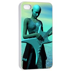 Sad Guitar Apple Iphone 4/4s Seamless Case (white) by icarusismartdesigns