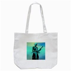 Sad Guitar Tote Bag (white)  by icarusismartdesigns