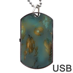 Broken Pieces Dog Tag Usb Flash (one Side) by theunrulyartist