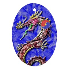 Dragon-Phoenix Ornament Oval Ornament (Two Sides) by TheDean