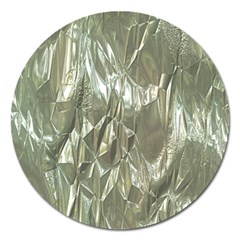 Crumpled Foil Magnet 5  (Round) by MoreColorsinLife