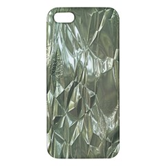Crumpled Foil Apple Iphone 5 Premium Hardshell Case by MoreColorsinLife