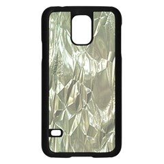 Crumpled Foil Samsung Galaxy S5 Case (Black) by MoreColorsinLife