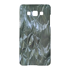 Crumpled Foil Blue Samsung Galaxy A5 Hardshell Case  by MoreColorsinLife