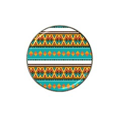Tribal Design In Retro Colors Hat Clip Ball Marker (10 Pack) by LalyLauraFLM