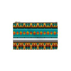 Tribal design in retro colors Cosmetic Bag (Small) by LalyLauraFLM