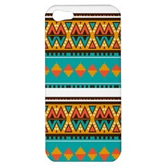 Tribal Design In Retro Colors Apple Iphone 5 Hardshell Case by LalyLauraFLM