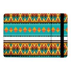 Tribal Design In Retro Colorssamsung Galaxy Tab Pro 10 1  Flip Case by LalyLauraFLM
