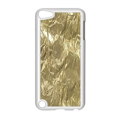 Crumpled Foil Golden Apple iPod Touch 5 Case (White) by MoreColorsinLife