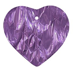 Crumpled Foil Lilac Heart Ornament (2 Sides) by MoreColorsinLife