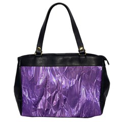 Crumpled Foil Lilac Office Handbags by MoreColorsinLife