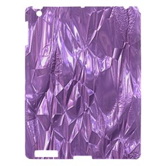 Crumpled Foil Lilac Apple iPad 3/4 Hardshell Case by MoreColorsinLife