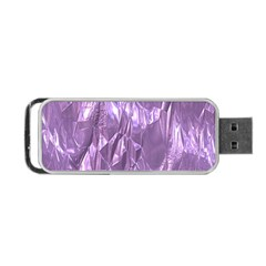 Crumpled Foil Lilac Portable Usb Flash (one Side) by MoreColorsinLife