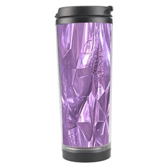 Crumpled Foil Lilac Travel Tumblers by MoreColorsinLife