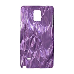 Crumpled Foil Lilac Samsung Galaxy Note 4 Hardshell Case by MoreColorsinLife