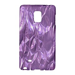 Crumpled Foil Lilac Galaxy Note Edge by MoreColorsinLife
