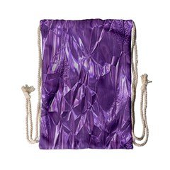 Crumpled Foil Lilac Drawstring Bag (small) by MoreColorsinLife