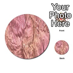 Crumpled Foil Pink Multi Purpose Cards (round)