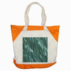Crumpled Foil Teal Accent Tote Bag  by MoreColorsinLife