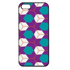 Cubes In Honeycomb Pattern Apple Iphone 5 Seamless Case (black) by LalyLauraFLM