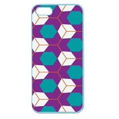 Cubes In Honeycomb Pattern Apple Seamless Iphone 5 Case (color) by LalyLauraFLM